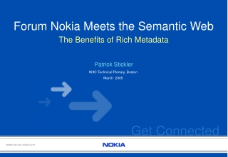 Forum Nokia Meets the Semantic Web
