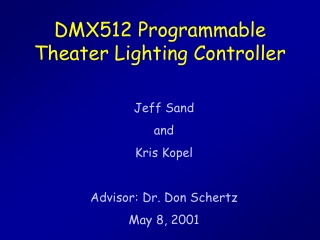 DMX512 Programmable Theater Lighting Controller