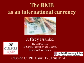 The RMB as an international currency