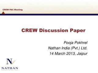CREW Discussion Paper