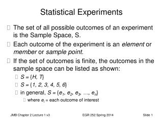 Statistical Experiments