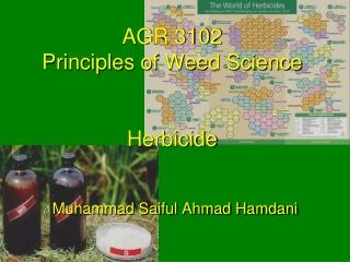 AGR 3102 Principles of Weed Science Herbicide
