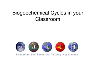 Biogeochemical Cycles in your Classroom