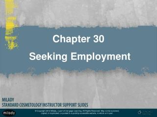 Chapter 30 Seeking Employment