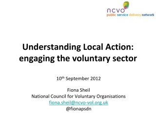 Understanding Local Action:  engaging the voluntary sector
