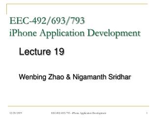 EEC-492/693/793 iPhone Application Development