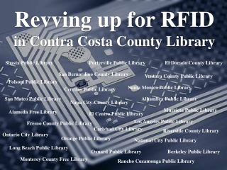 Revving up for RFID in Contra Costa County Library