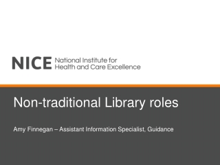 Non-traditional Library roles