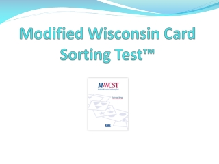 Modified Wisconsin Card  Sorting Test™
