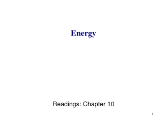 Energy Readings: Chapter 10