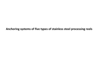 Anchoring systems of five types of stainless steel processing reels