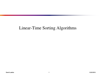 Linear-Time Sorting Algorithms