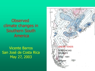 LINEAR TENDS TENDENCIAS ANUALES 1956 – 1991 mm/year