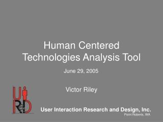 Human Centered Technologies Analysis Tool