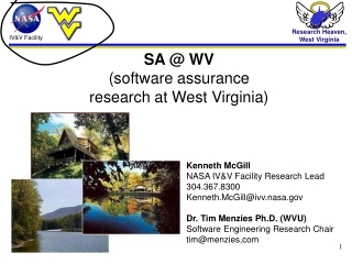 SA @ WV (software assurance  research at West Virginia)