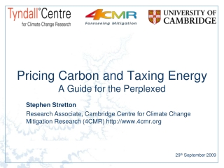 Pricing Carbon and Taxing Energy A Guide for the Perplexed