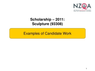 Scholarship – 2011: Sculpture (93308)