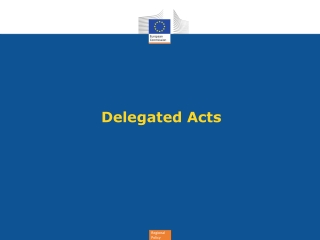Delegated Acts