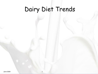 Dairy Diet Trends