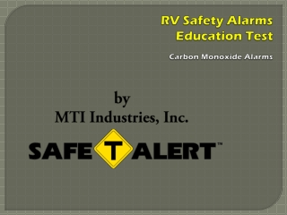 RV Safety Alarms Education Test Carbon Monoxide Alarms