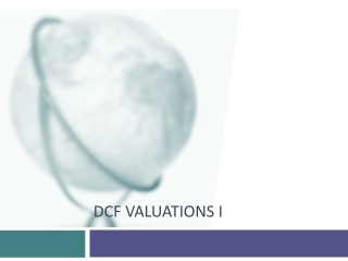DCF Valuations I