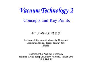 Vacuum Technology-2 Concepts and Key Points