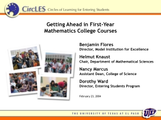 Getting Ahead in First-Year  Mathematics College Courses