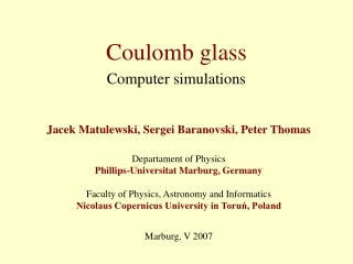 Coulomb glass