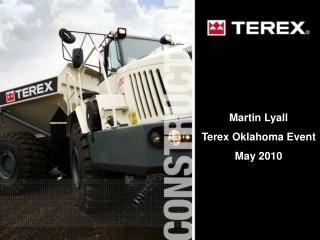 Martin Lyall Terex Oklahoma Event May 2010