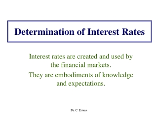 Determination of Interest Rates