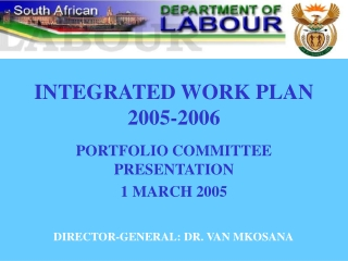 INTEGRATED WORK PLAN  2005-2006