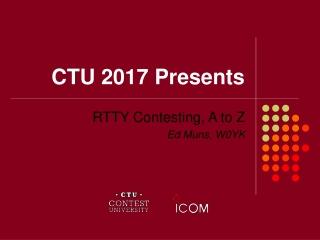 CTU 2017 Presents
