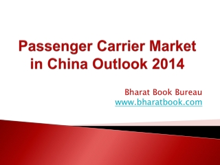 Passenger Carrier Market in China Outlook 2014
