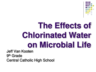 The Effects of Chlorinated Water on Microbial Life