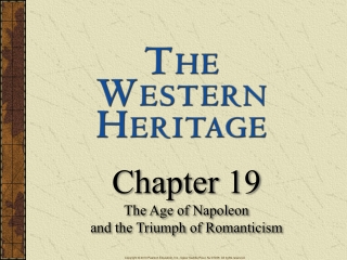 Chapter 19 The Age of Napoleon  and the Triumph of Romanticism
