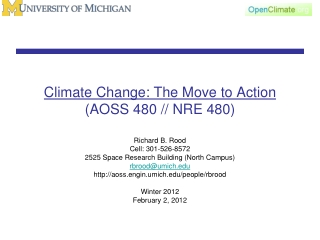 Climate Change: The Move to Action (AOSS 480 // NRE 480)