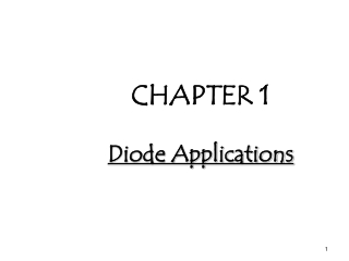 CHAPTER 1 Diode Applications