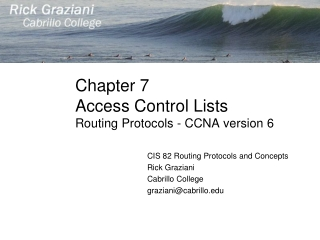 Chapter 7 Access Control Lists Routing Protocols - CCNA version 6