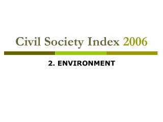 Civil Society Index 2006