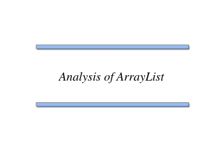 Analysis of ArrayList