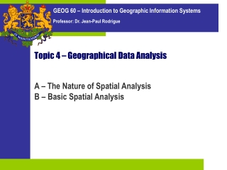 Topic 4 – Geographical Data Analysis