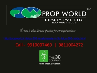 9910007460|3c lotus 300 Resale|Sector 107 Noida