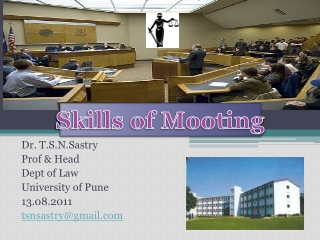 Dr.  T.S.N.Sastry Prof & Head Dept of Law  University of Pune  13.08.2011 tsnsastry@gmail