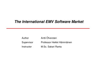 The International EMV Software Market