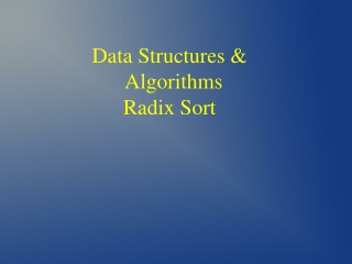 Data Structures & Algorithms Radix Sort