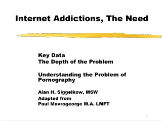 Internet Addictions, The Need