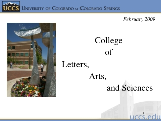College  of  Letters,              Arts,                      and Sciences
