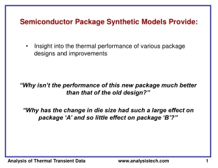 Semiconductor Package Synthetic Models Provide: