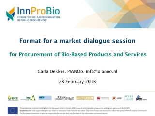 Format for a market dialogue session