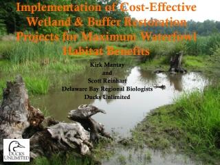 Kirk Mantay and Scott Reinhart Delaware Bay Regional Biologists Ducks Unlimited